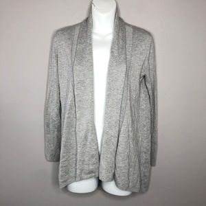 ZARA Knit Grey Open Front Cardigan Size Medium